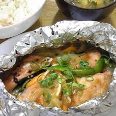 鮭の辛子味噌マヨホイル焼き