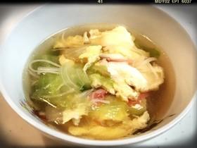 ☆簡単!ヘルシー!カニかまレタススープ☆