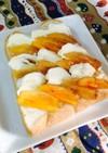 柿とクリームチーズのウェーブトースト♡