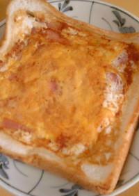 ベーコンと卵とチーズのトースト