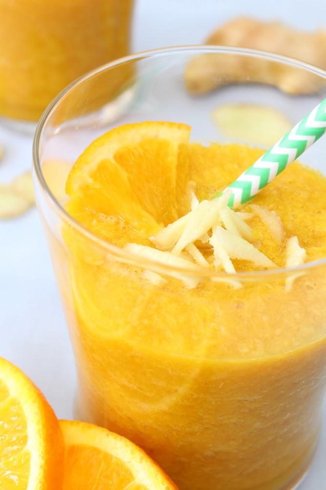 生姜風味のビタミンたっぷりスムージー