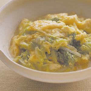 白菜と油揚げの卵とじ