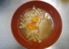 根菜とキノコのみそ汁