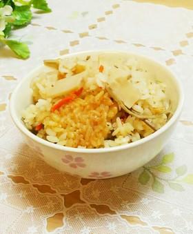 松茸のお吸い物で✴筍炊き込みご飯✴