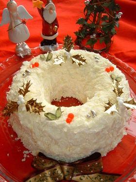 クリスマス☆リースケーキ