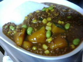 ほくほくかぼちゃのひき肉カレー