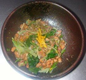 水菜のおひたし&納豆のサラダ