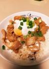 簡単!おいしい♡にんにくが効いた味噌豚丼