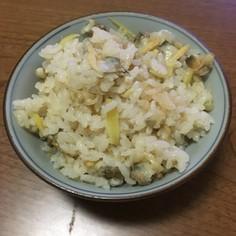 超簡単むきあさりと新生姜の炊き込みご飯