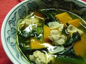 かぼちゃ☆豚肉のあったまりまスープ