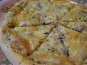 超シンプルピザ、タイム風味