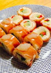 生ハムで*洋風巻き寿司