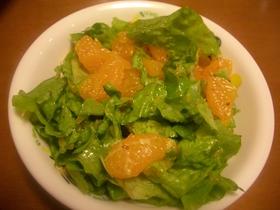 レタスとみかんのサラダ♪