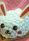 うさぎの立体ケーキ