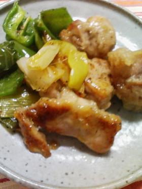 鶏もも肉と長ネギじっくり炒め