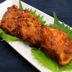 キムチ納豆のおつまみ揚げ