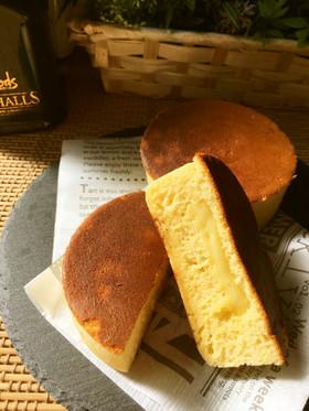 セリアの型で♡熱々♡焼きチーズケーキ