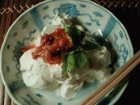 チャンジャ豆腐