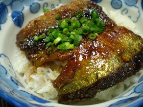 秋刀魚の照り焼き丼 柚子胡椒のたれで
