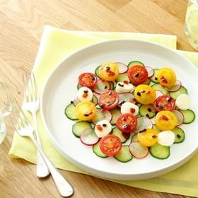 カラフルかわいい!水玉サラダ
