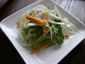 付け合せに。柿の甘いシャキシャキサラダ