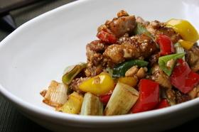■鶏肉と白葱の味噌マヨ炒め■10分でOK