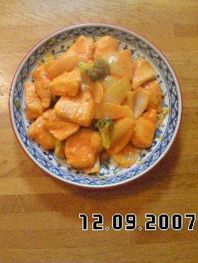 鶏ムネ肉のオーロラソース