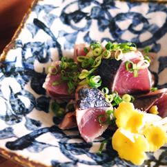 鰹のタタキ~柚子塩風味~