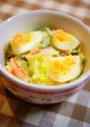 レタスの味噌マヨエッグサラダ
