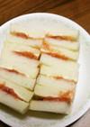 無花果ジャムとクリームチーズのサンド