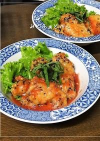 鶏むね竜田のトマトこぶおろし南蛮