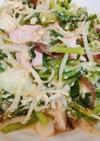 野菜とハムのバターしょうゆ炒め
