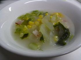 心も体もホッとする白菜コーンスープ