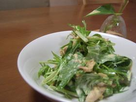 水菜とツナのカレーマヨネーズ和え♪