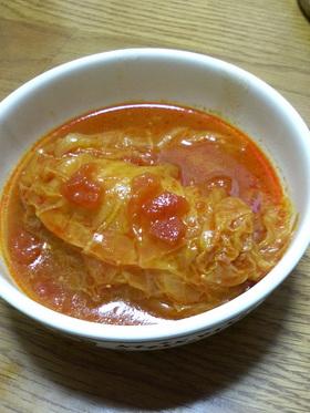 トマト味のロール白菜(キャベツでも可)