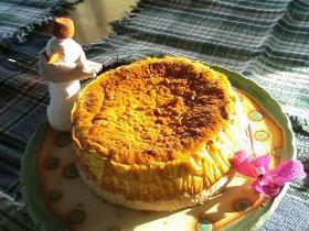 FPで簡単!カボチャ豆乳チーズケーキ