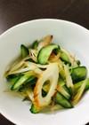 麺つゆで胡瓜と竹輪の酢の物