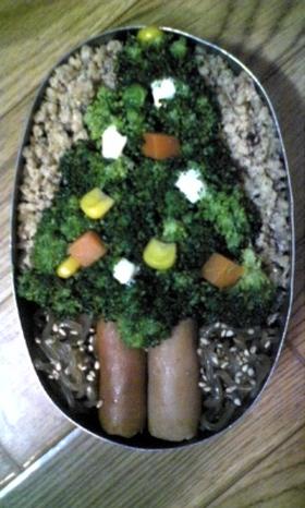 クリスマスツリー弁当★簡単で野菜いっぱい