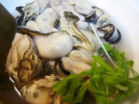 レンジでチン!簡単、牡蠣の酒蒸し♡
