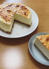 生クリーム不使用!でも濃厚チーズケーキ
