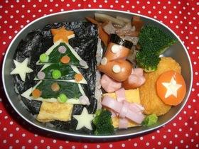 クリスマスツリー☆でたのしいお弁当