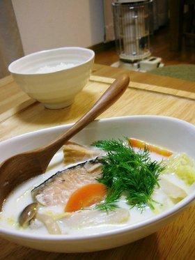鮭と白菜のミルクスープ