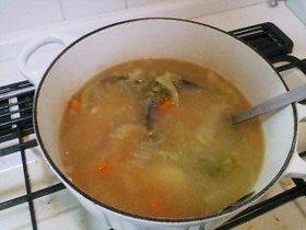 白菜のトロトロ味噌スープ