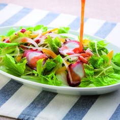 タコのカルパッチョ風サラダ
