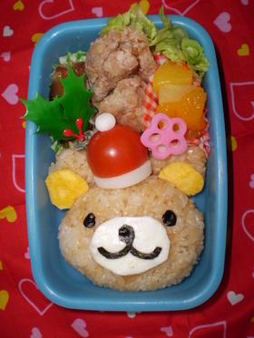 クマちゃんのクリスマス弁当(キャラ弁)