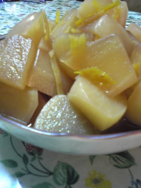 大根の柚子しょう油煮