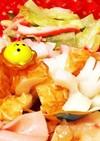 お弁当の隙間に♡竹輪のお花(灬ω灬)