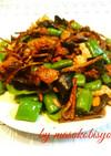干し松茸の炒め物