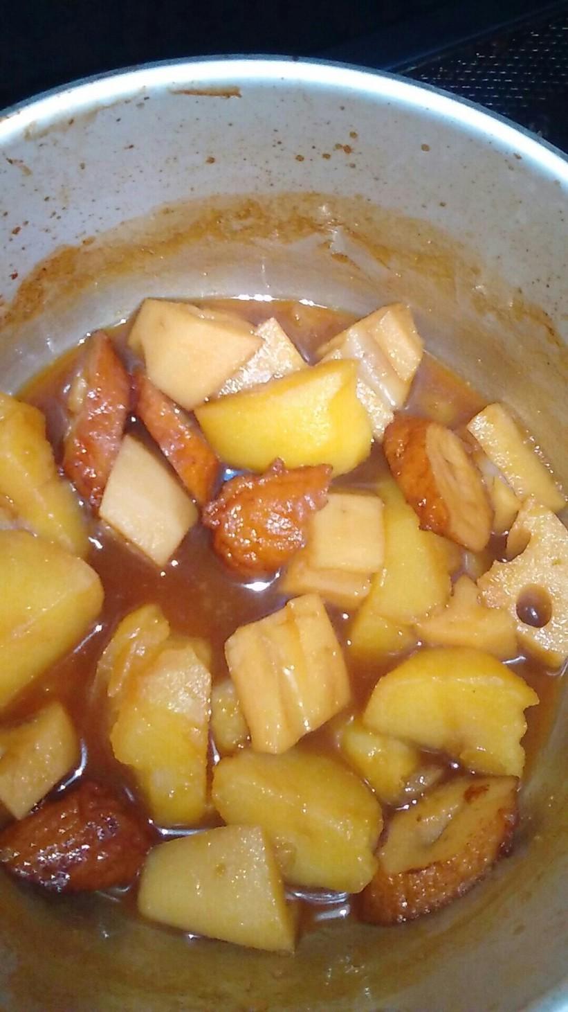 ジャガイモと蓮根のさっぱりハチミツ煮