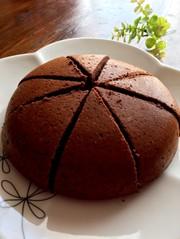 余ったヨーグルトを炊飯器で!ココアケーキの写真